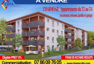 """NOUVEAU à LAGNIEU  """"L' HARMONIE"""" Immeuble de 35 logements"""
